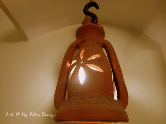 Room with a lantern, Hotel Kalyan, Jaipur, Rajasthan