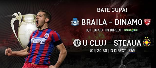 Universitatea Cluj FC Steaua Bucureşti Cupa României live online 24.09.2015