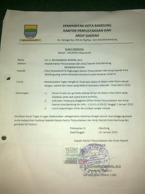 Isi Surat Perintah Seks Bebas PNS Pemkot Bandung