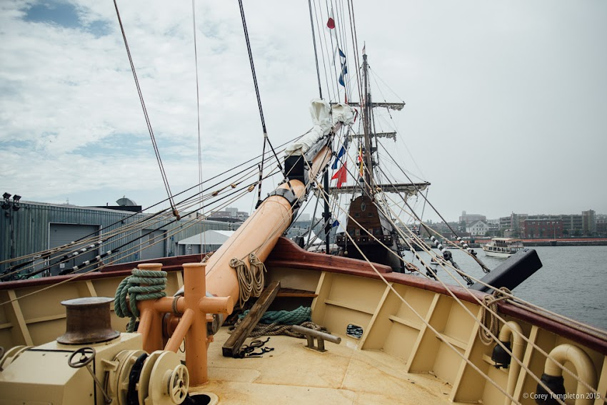 Portland, Maine USA July 2015 Tall Ships Portland event at Maine State Pier SSV Oliver Hazard Perry photo by Corey Templeton.