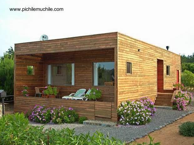 Cabaña de madera diseño contemporáneo en Chile