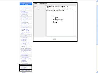 Make a BBS Category  Type a genre of the category and then type category in categories area.