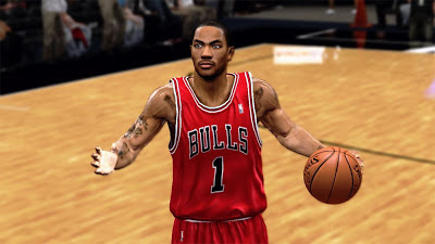 NBA 2K13 Derrick Rose Cyberface In-Game Preview