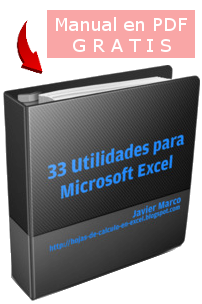 Manual con 33 utilidades para Microsoft Excel en pdf