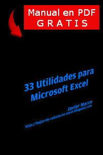Manual con 33 utilidades para Microsoft Excel en pdf