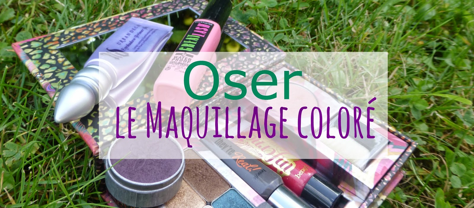 Je tente le maquillage coloré - Violet et vert