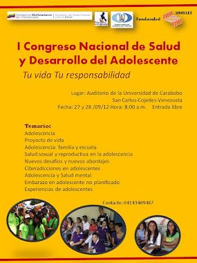 I CONGRESO NACIONAL DE SALUD Y DESARROLLO DEL ADOLESCENTE