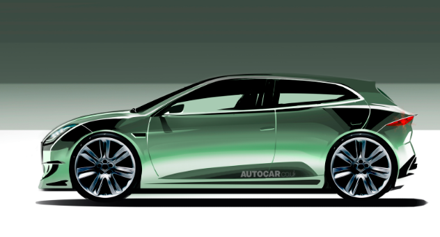 Small Jaguar hatchback render