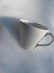 Utefika..en kopp te i snön..