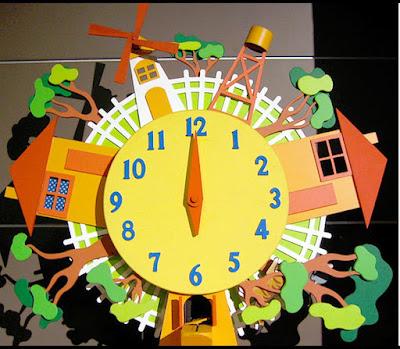 kreasi jam hiasan ruang tamu