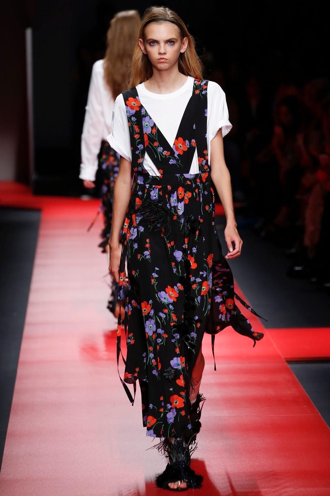 milan fashion week, look, spring 2016, model, catwalk