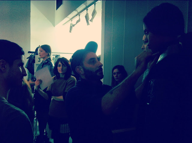 Models CORRADO DE BIASE FALL-WINTER 2012/13 BACKSTAGE PARIS FASHION WEEK READY-TO-WEAR