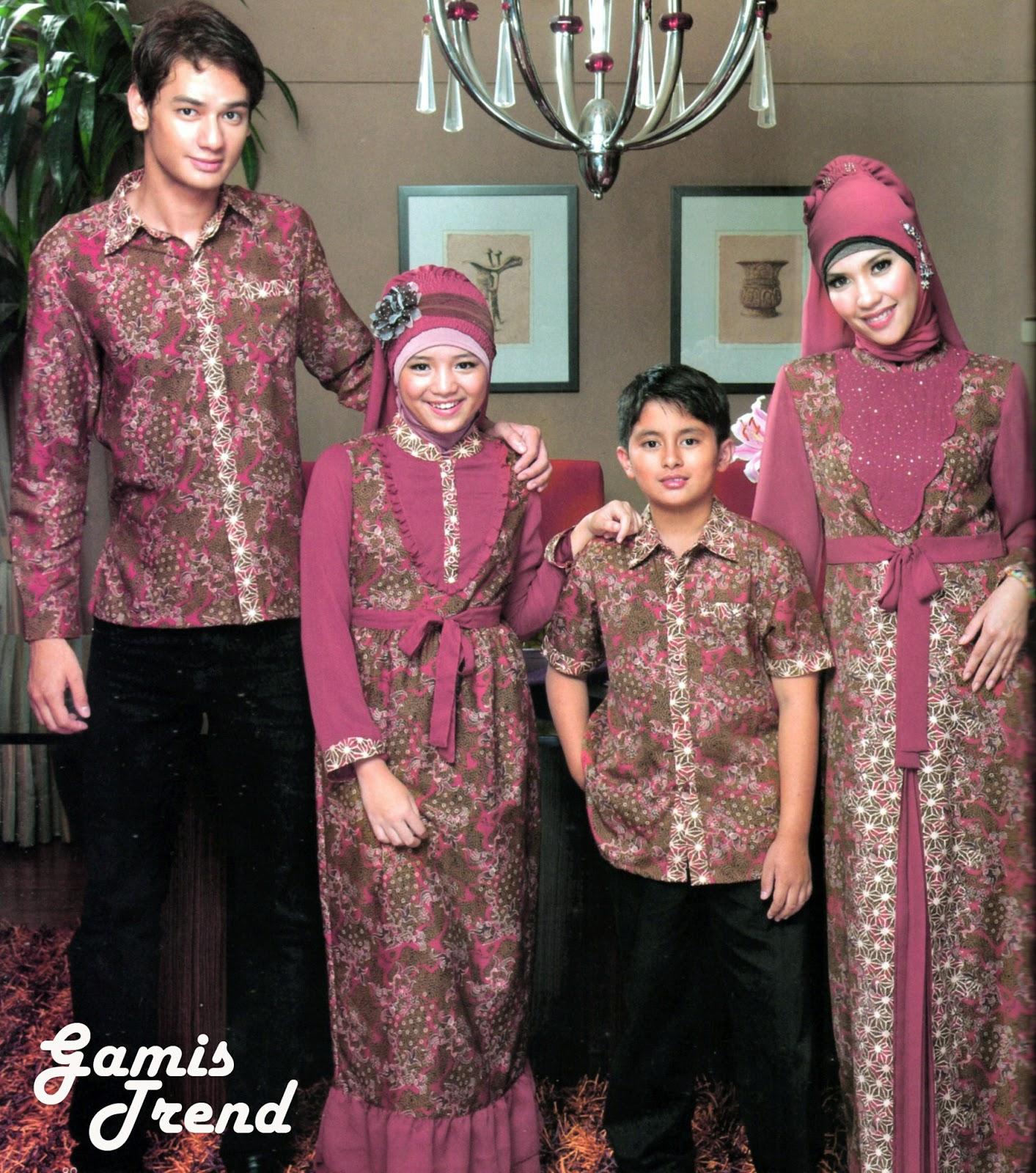 Contoh Model Baju Muslim Batik Untuk Keluarga dan Anak