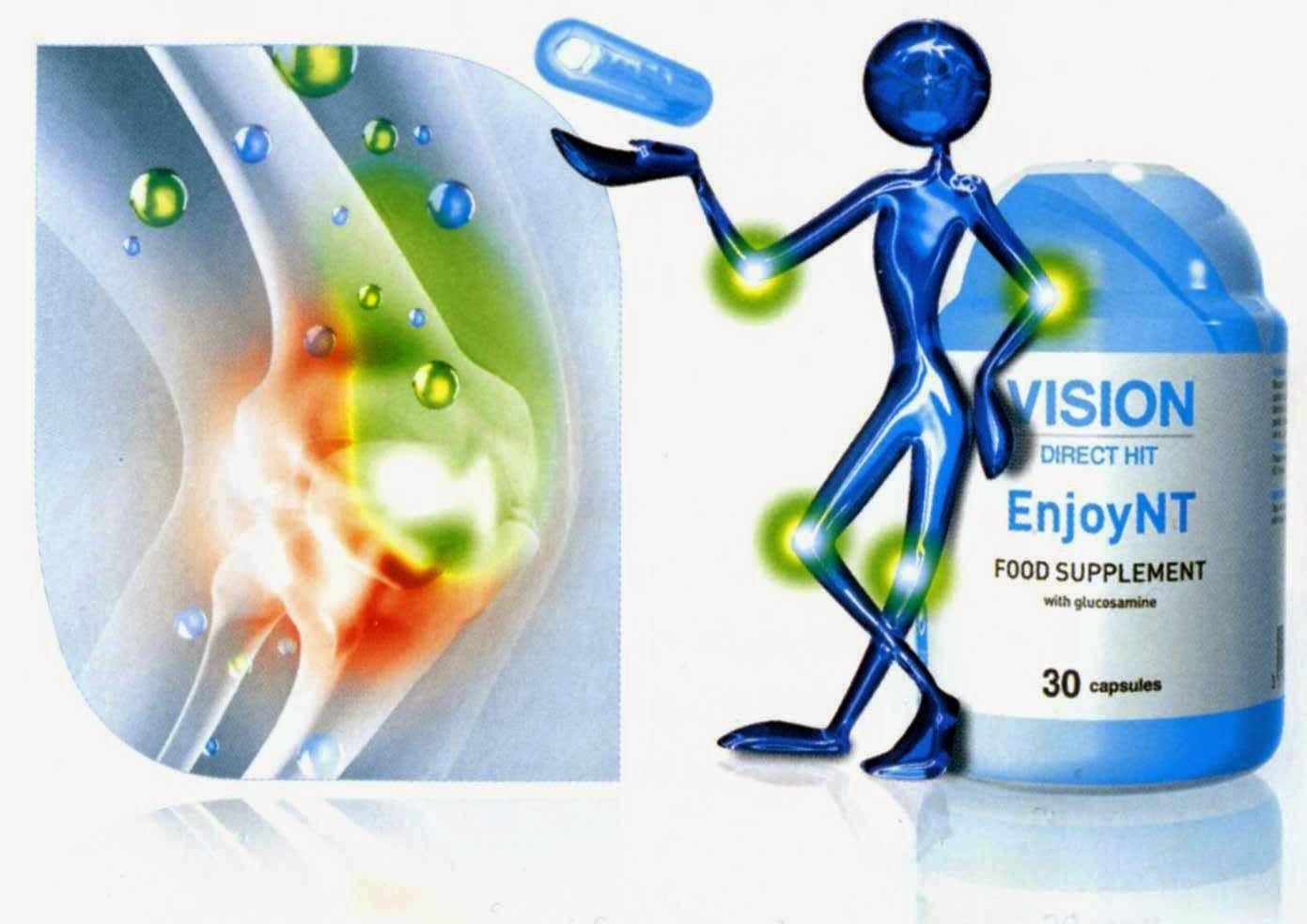 Tác dụng thực phẫm chức năng EnjoyNT Vision sụn khớp xương
