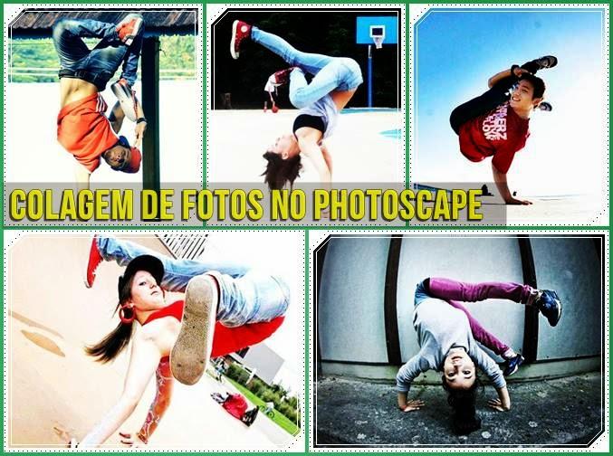 colagem com 5 fotos