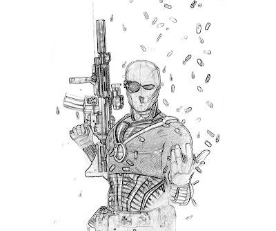 Deadshot Arkham City Coloring Pages