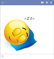 Sleep emoticon for Facebook chat