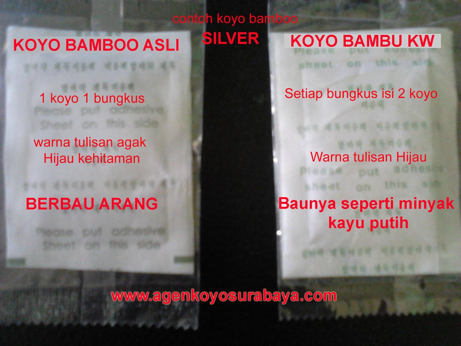 Agen Koyo Surabaya Happy Life Bamboo Jual Gold Original Detox Isi Warna Kuning Tourmalin Agak Kasar Perekat Tidak Kuat Berbau Seperti Minyak Kayu Putih Serbuk Terkadang Keluar Bungkus Plastik