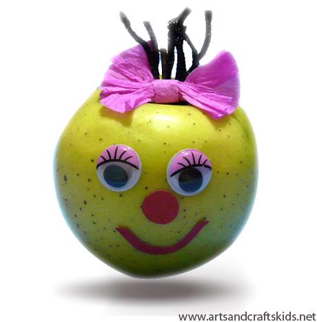 Поделка из яблока фото