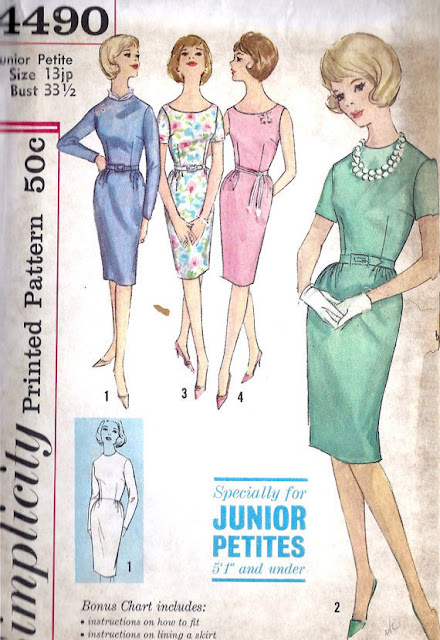 1960s wiggle dress  sewing pattern Just Peachy, Darling