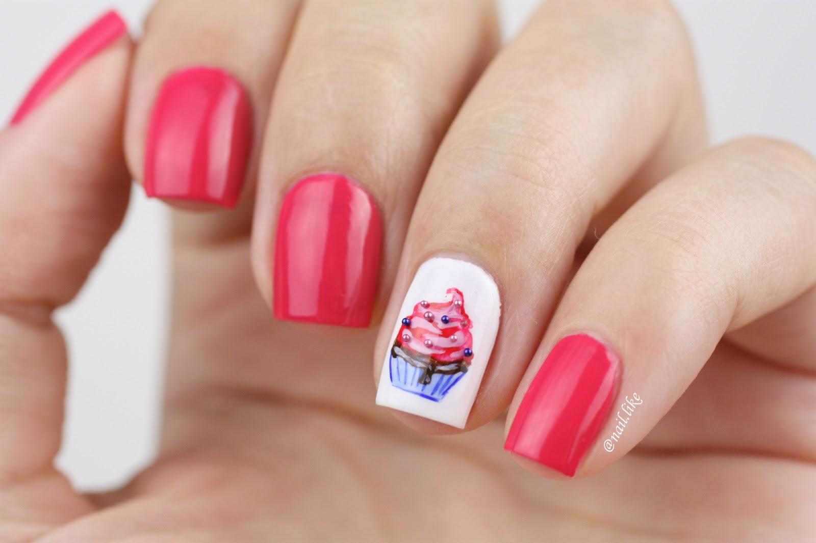 Дизайн ногтей кексы фото