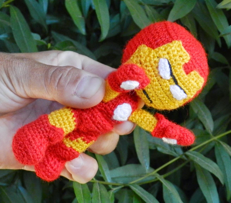 daxa rabalea: Iron Man amigurumi - patrón gratis