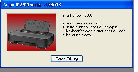 at the time ip2770 printer is turned on the printer will initialize ...