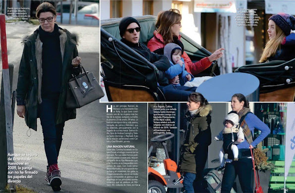 Princess Caroline of Hannover, her children Charlotte Casiraghi, Princess Alexandra, Andrea Casiraghi and his wife Tatiana Santo Domingo, her grandchildren India Casiraghi and Raphael Casiraghi.