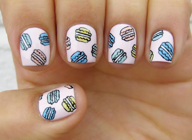 macarons nail art