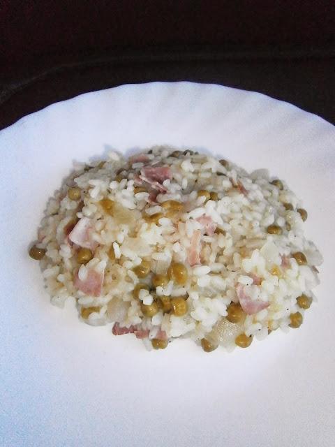 D lices d 39 une novice risotto jambon petits pois - Quand semer les petit pois ...