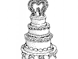 Printable Wedding Cake Coloring Pages