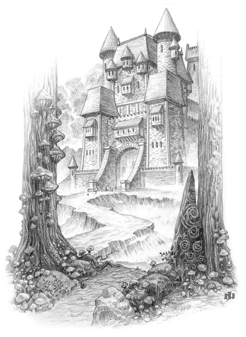 Gallery For > Underwater Castle Drawing