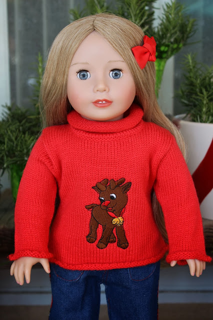 American Girl Doll Christmas Sweater