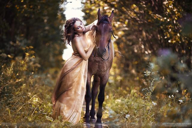 красивая фотосессия с лошадьми