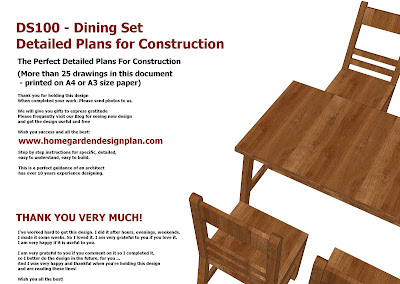 Dining Table Set Plans - Woodworking Plans - Outdoor Furniture Plans
