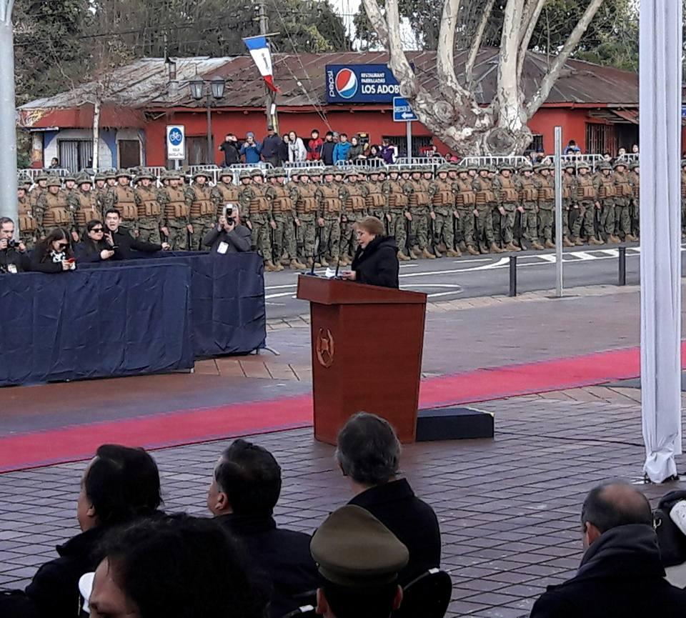 Discurso de Presidenta Bachelet en 238° Aniversario de Natalicio de Bdo. O´Higgins en Chillán Viejo