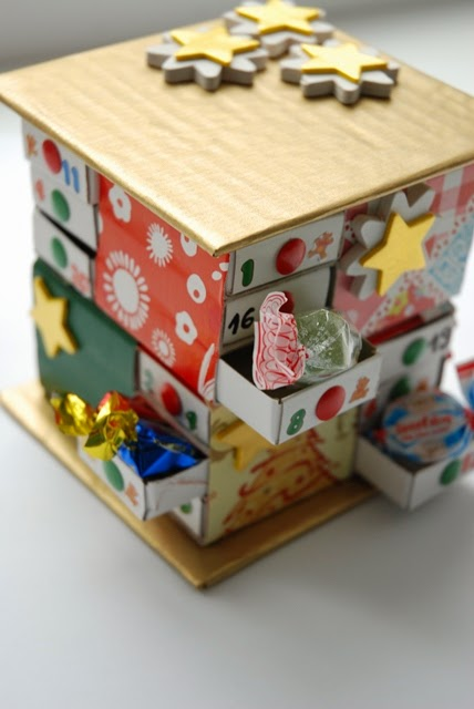 Diy Matchbox Advent Calendar : A little diy handmade matchbox advent calendar