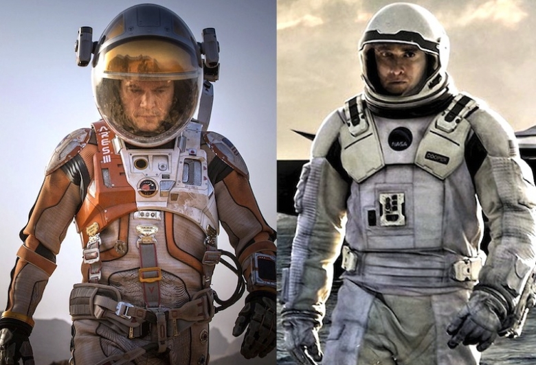 a review of the science fiction films the martian and interstellar