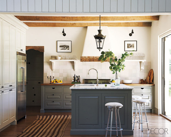 Design in the woods open shelving in kitchens and some press - Elle decor kitchens ...