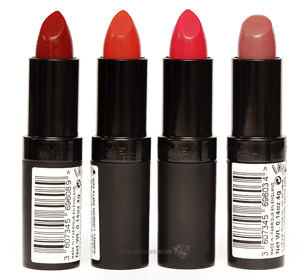 Rimmel Kate Moss Lasting Finish Lipsticks