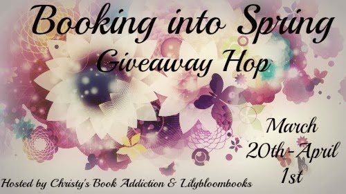 http://www.christysbookaddiction.blogspot.com/2014/02/booking-into-spring-giveaway-hop-sign.html