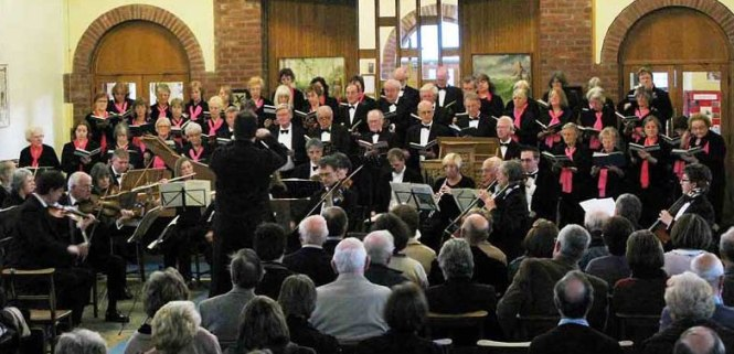 Performing St John Passion, April 2009