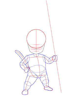 cara menggambar Goku kecil tahap 6