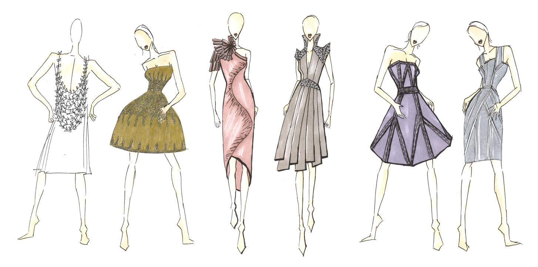 Elegant Pose Fashion Drawing Templates  Free Fashion