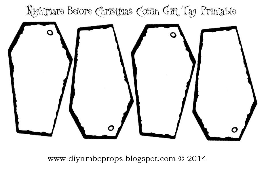 ... Christmas Halloween Props: Nightmare Before Christmas Gift Tags