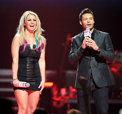 Britney Spears, Rainbow, Hair, Ryan Seacrest, X Factor