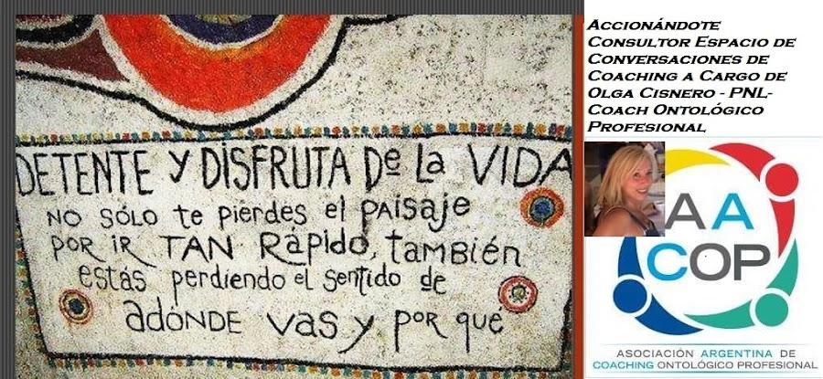 Bienestar de Nuestra Salud - AccionandoTe Consultor- Creadora Olga Cisnero