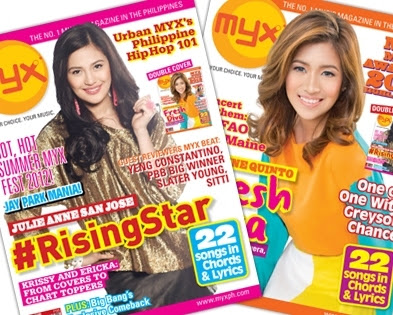 Julie Ann San Jose and Angeline Quinto MYX Mag June 2012