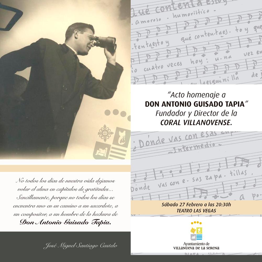 Acto Homenaje a Antonio Guisado Tapia