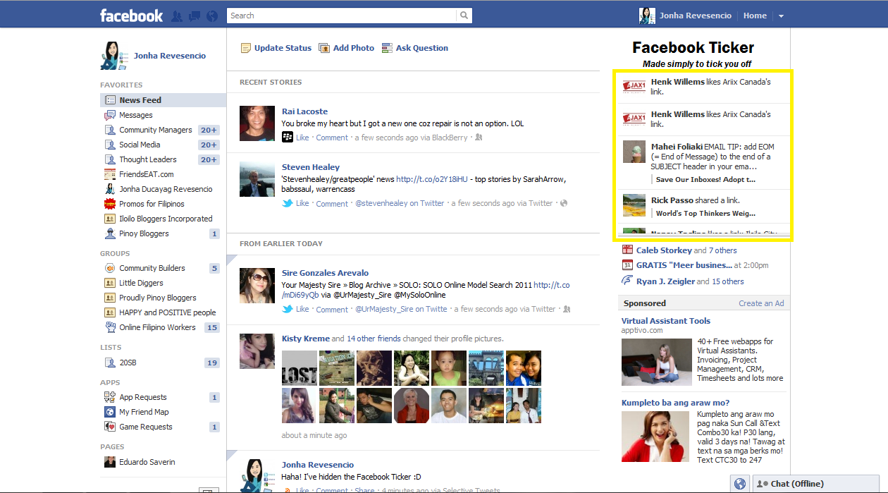 how to join friend on face book